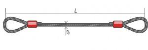 Стропы канатные СКП (УСК1) - петлевые