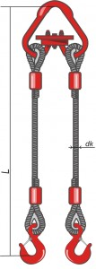 Стропы канатные 2 СК - двухветвевые