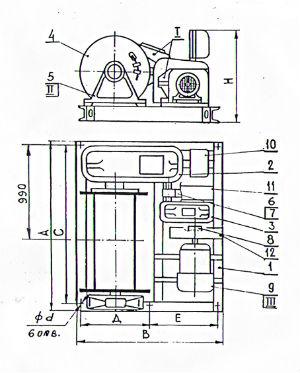 Лебедка ЛМ-5