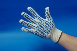 Перчатки рабочие с ПВХ волна